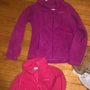 2 Columbia fleeces size medium